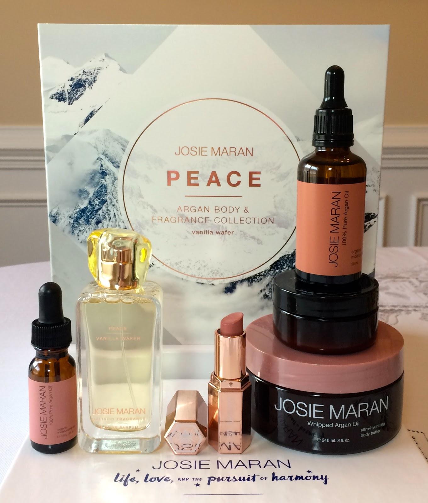 Blue apron qvc - Blue Skies For Me Please Qvc S Josie Maran Tsv Review Peace Love Joy Argan Body Fragrance Set