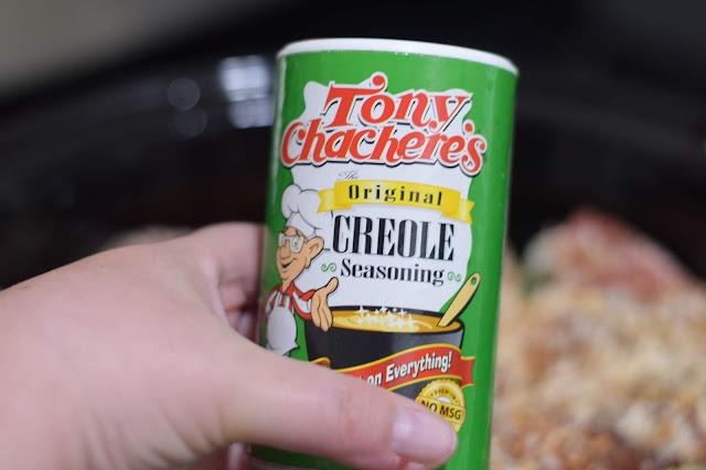 Sprinkle some cajun seasoning over everything.