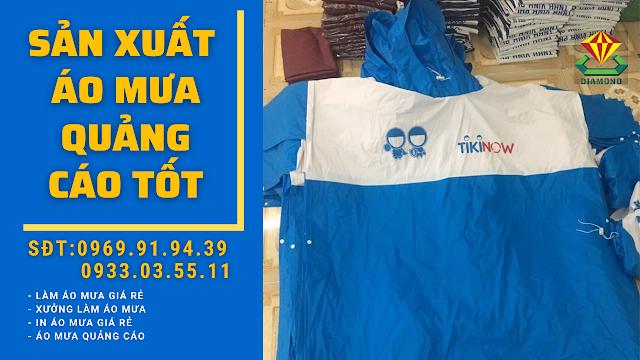 Đơn vị sản xuất áo mưa cánh dơi quảng cáo