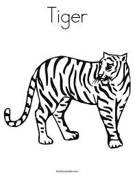 Tiger Coloring Sheet With Name