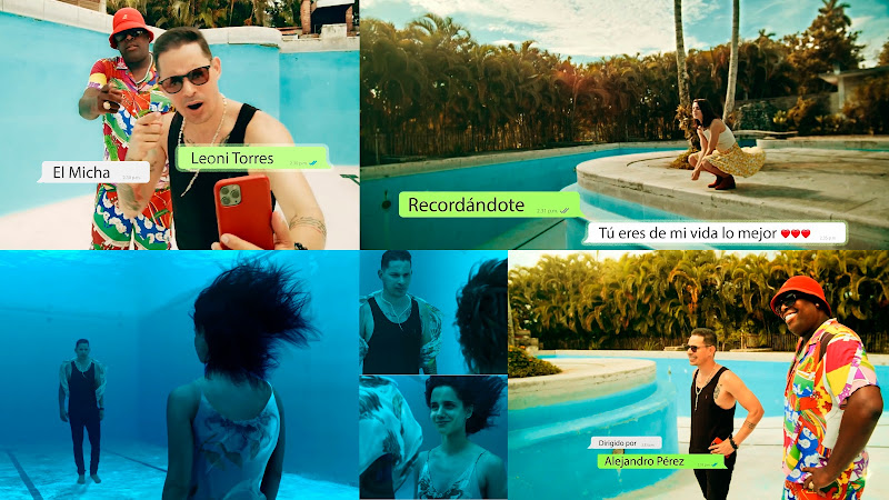 Leoni Torres & El Micha - ¨Recordándote¨ - Videoclip - Director: Alejandro Pérez. Portal Del Vídeo Clip Cubano. Música cubana. Cuba.