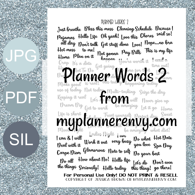 Free Printable Planner Words 2 from myplannerenvy.com