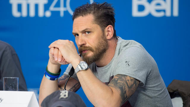 Photo of Tom Hardy at Toronto International Film Festival Wearing a Rolex Explorer II