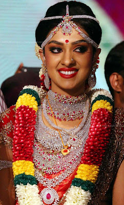 KERALA WEDDING SAREE WITH JEWELLERY