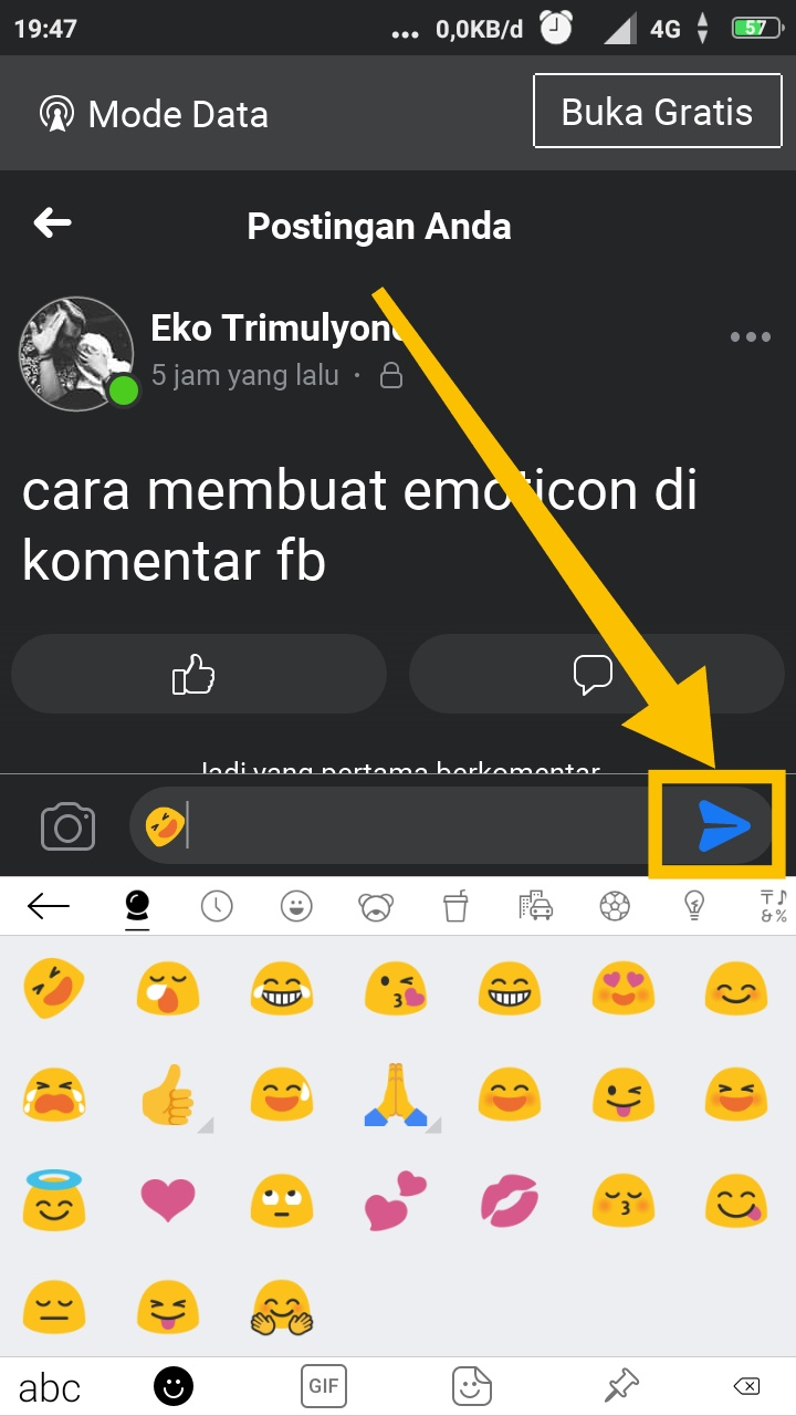 cara membuat emoticon facebook status