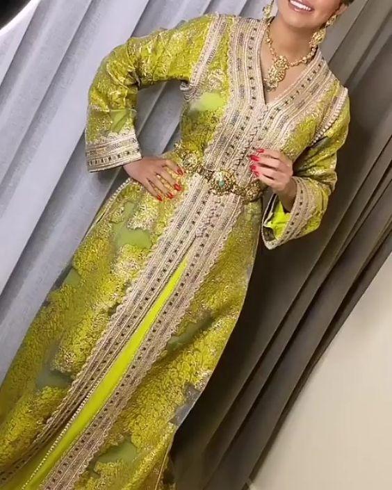 caftan marocain brocard haute couture 2020