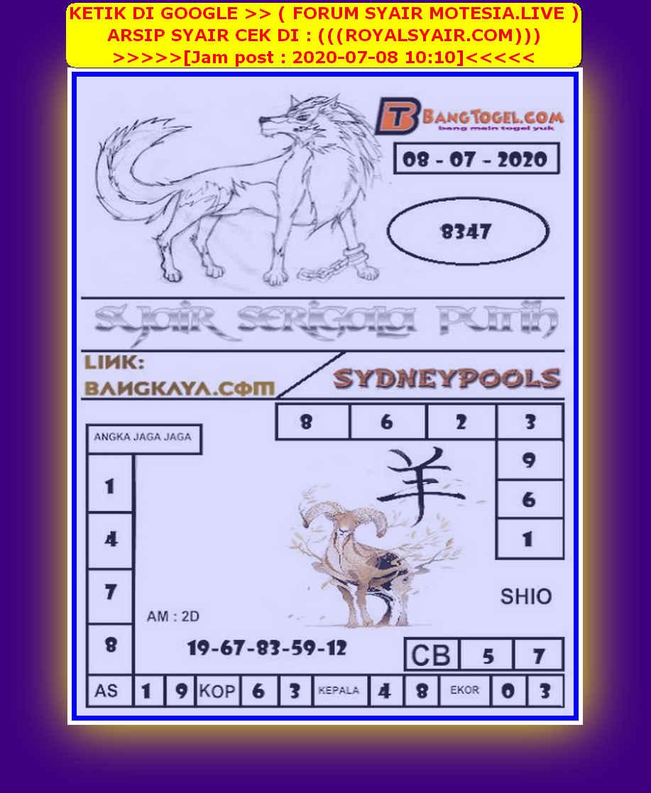 Kode syair Sydney Rabu 8 Juli 2020 119