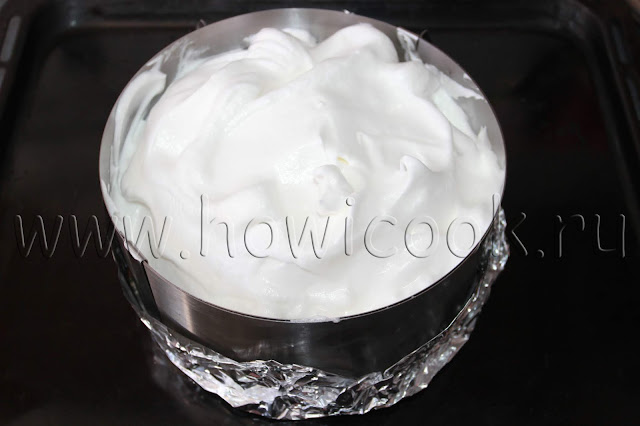 рецепт торта аляска с мороженым и малиной с пошаговыми фото