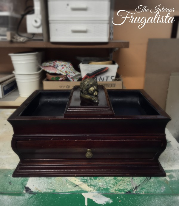 Thrift store Mens Jewelry Box Before Makeover