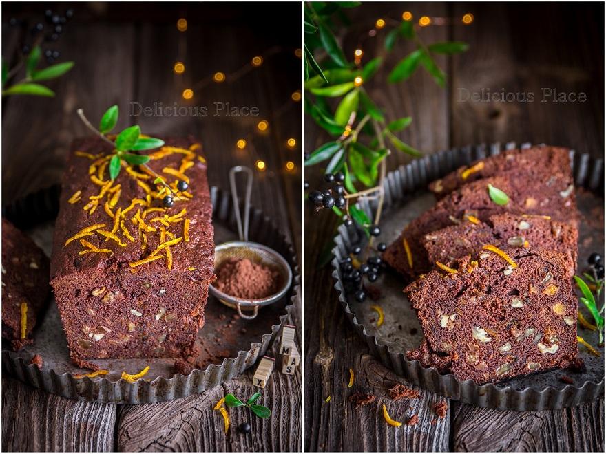 Kakaowy piernik z brandy i bakaliami