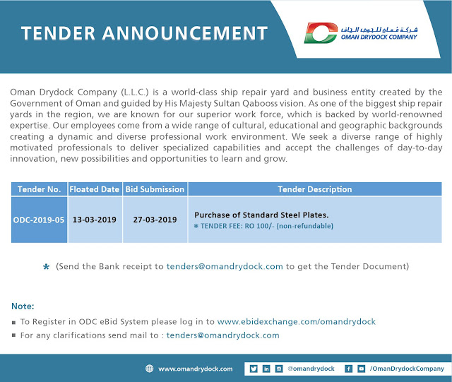 Tender Announcement - Oman DryDock