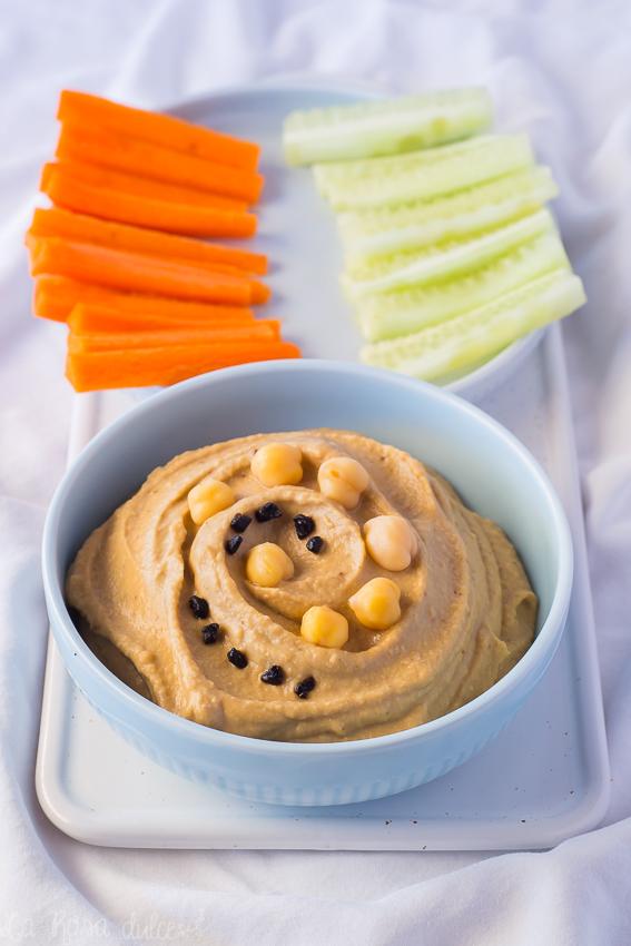 Hummus de ajo negro #vegano