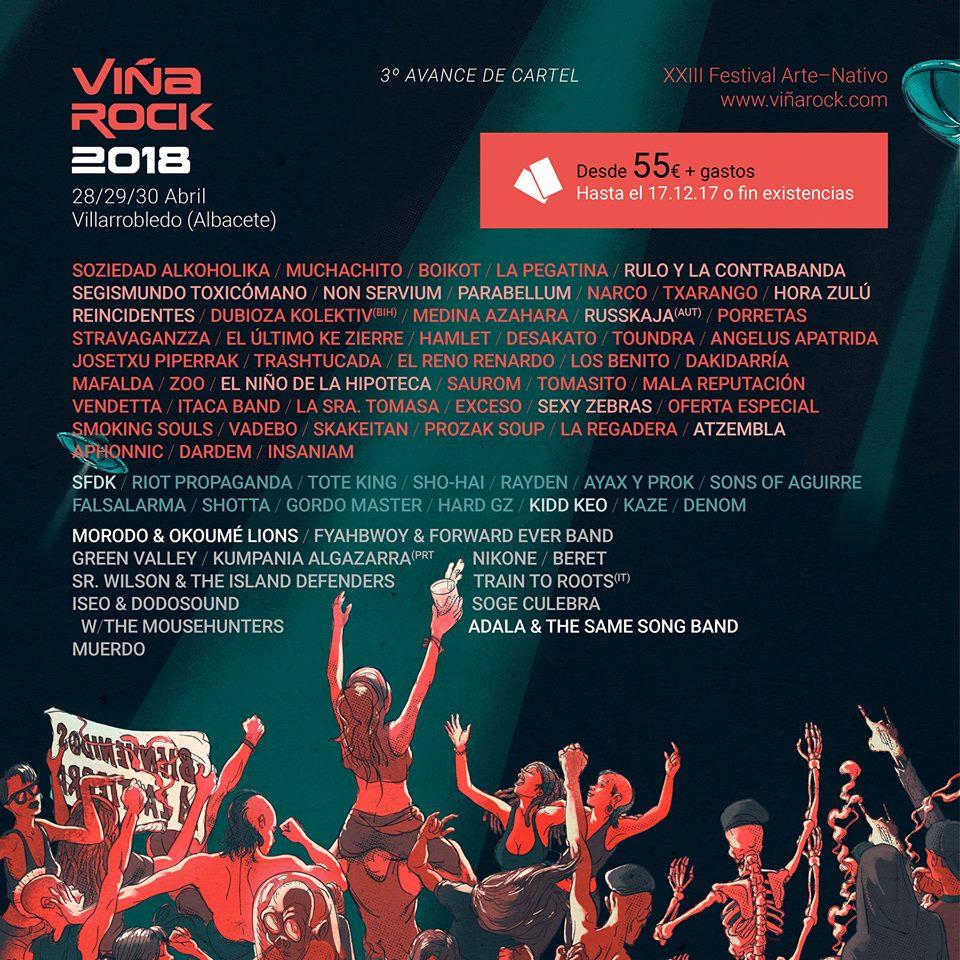 PARABELLUM-REGRESAN A LO GRANDE:CONFIRMADOS PARA EL VIÑA ROCK 2018 ...