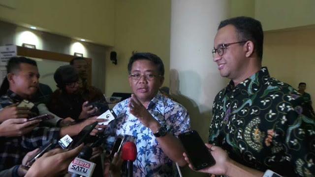 Ekpresi Anies Baswedan Saat Disebut Layak Menjadi Capres Oleh Presiden PKS