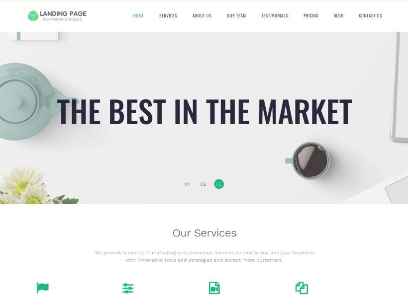 Landing Page Blogspot Công ty