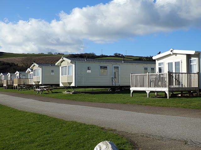 Caravans at Pentewan Sands, Pentewan, Cornwall