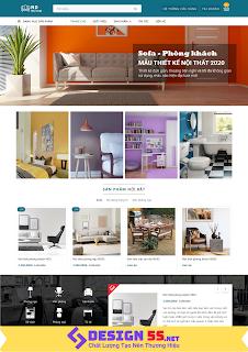 Template blogspot bán nội thất hiện đại VSM17