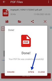 convert image into pdf file
