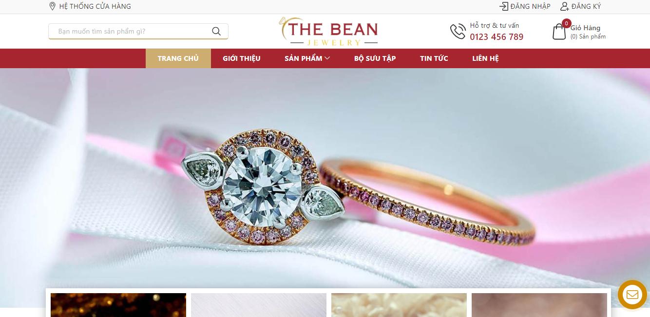 Template Blogger bán hàng trang sức