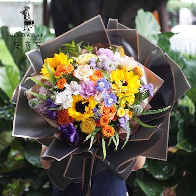 Kertas Buket Bunga / Flower Bouquet Wrapping Paper (Seri GDM)