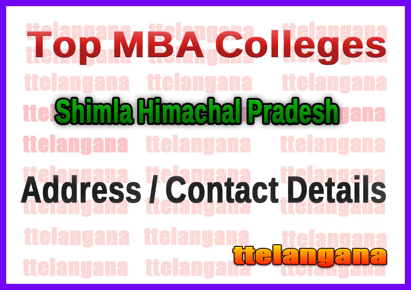 Top MBA Colleges in Shimla Himachal Pradesh