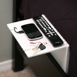 Top Dorm Room Accessories to Keep You Organized - bedside shelf :: OrganizingMadeFun.com