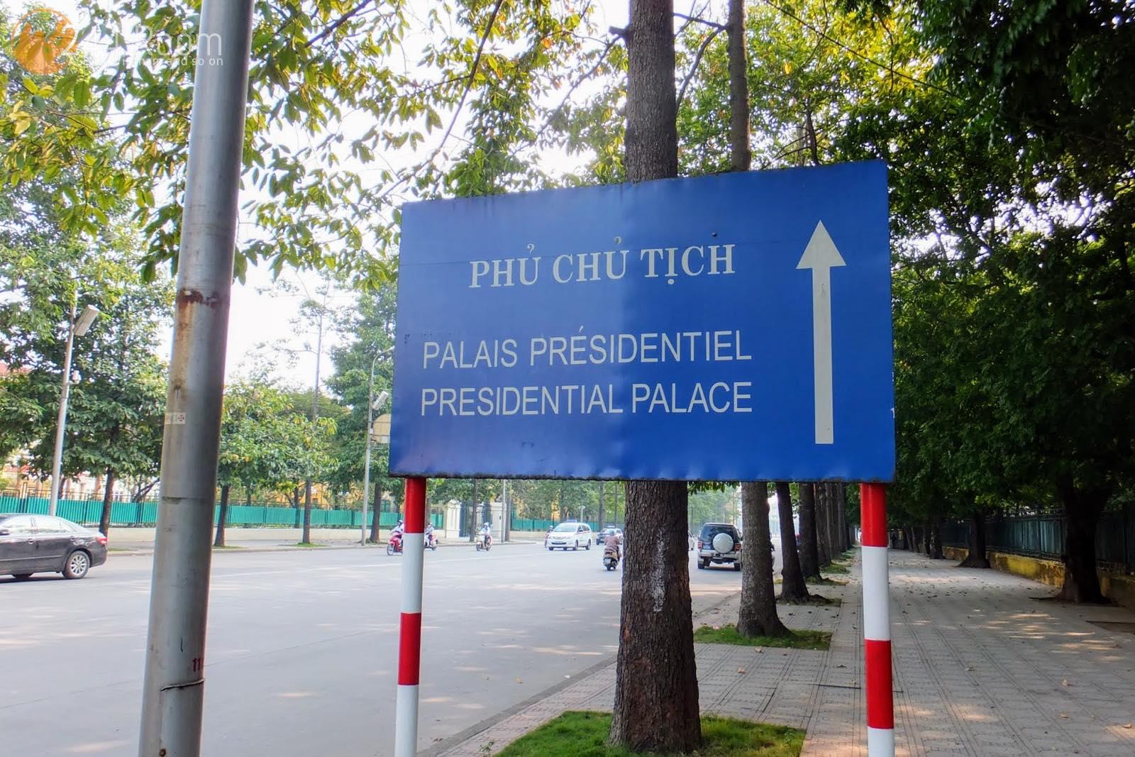 ベトナム大統領府看板 Presidential Palace sign2
