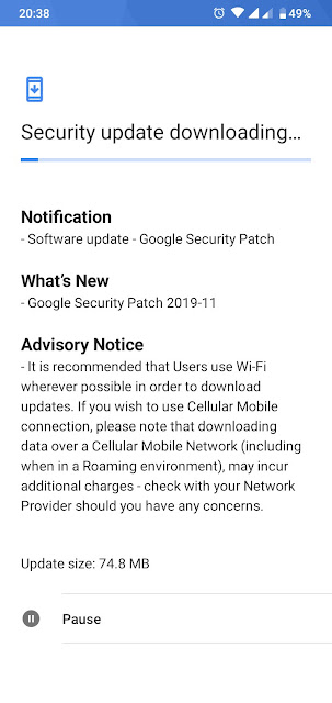 Nokia 4.2 receiving November 2019 Android Security patch
