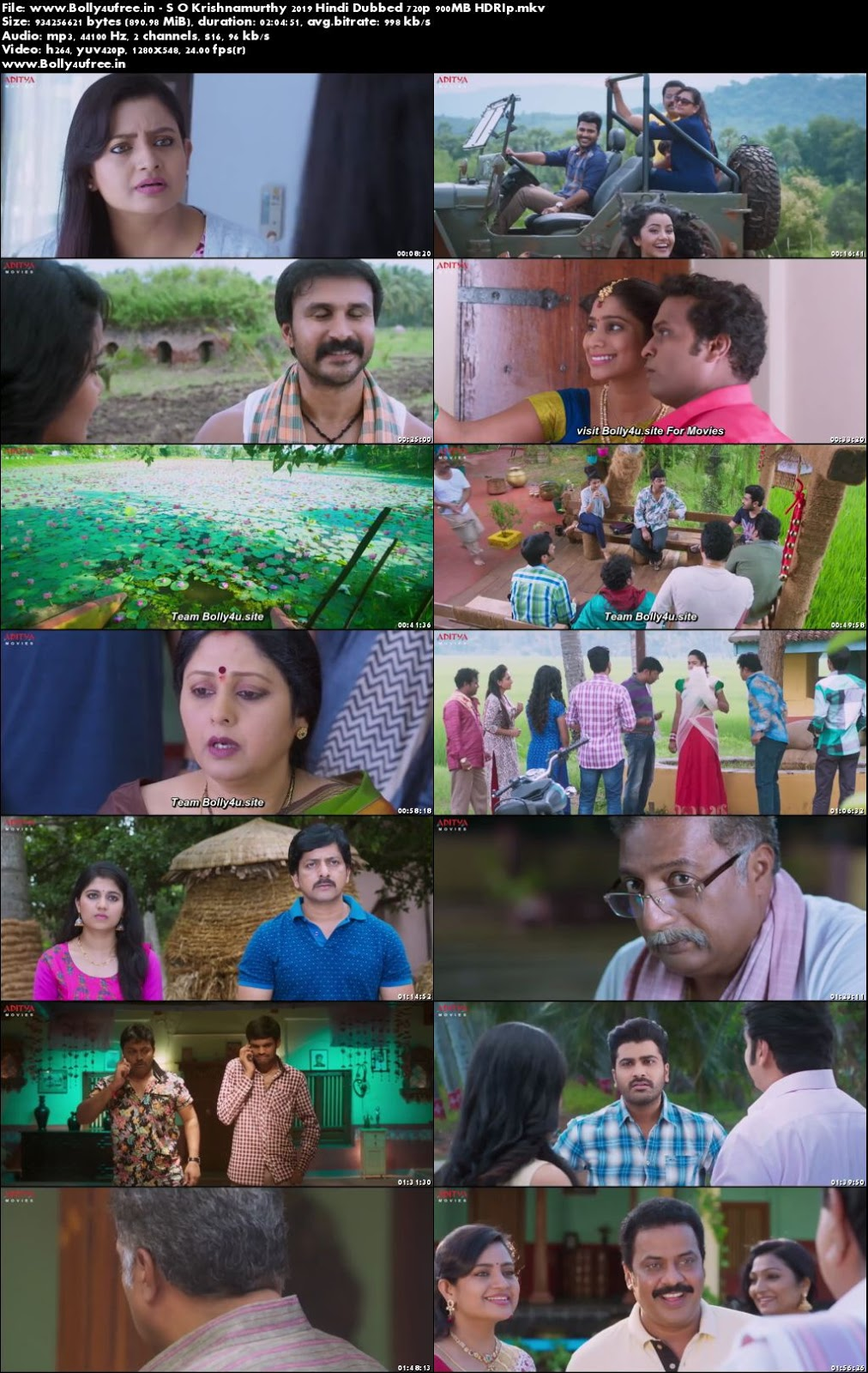 S O Krishnamurthy 2019 Hindi Dubbed HDRip 300MB 480p
