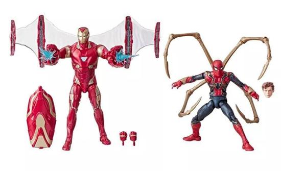 Marvel 80th Anniversary Marvel Legends Iron Man Mark 50 and Iron Spider Tom Holland toys