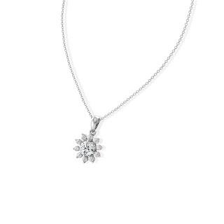 Sợi dây chuyền kim cương thật hình bông tuyết