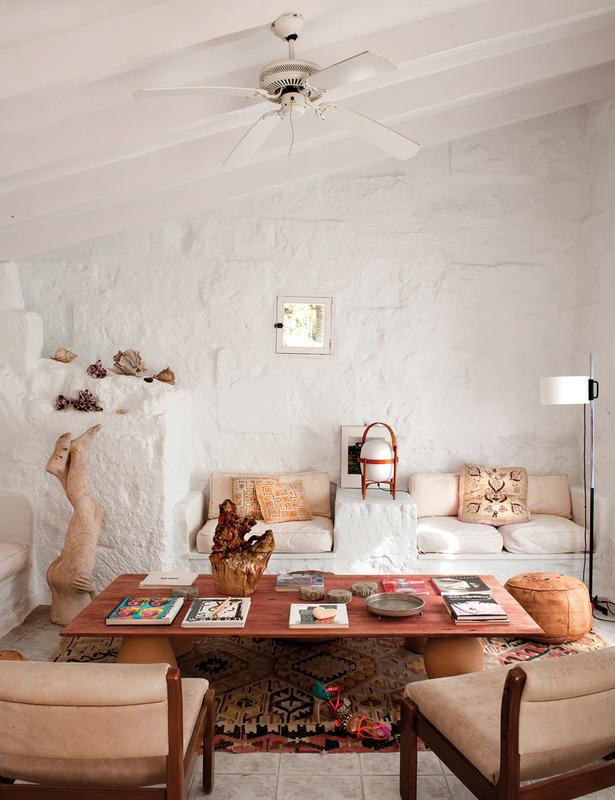 La casa Hippy Chic de la diseñadora Úrsula Mascaró  Etxekodeco