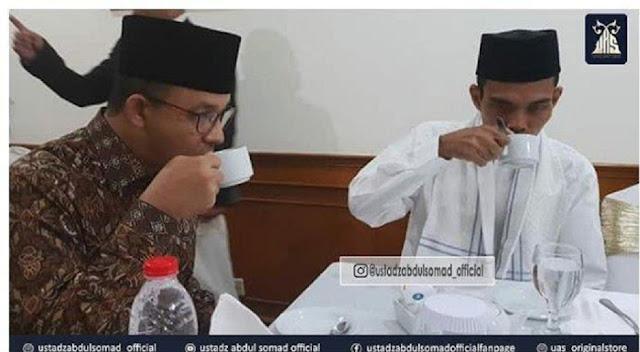 Unggah Foto Peretemuannya, Ustaz Somad Bilang Anies Perpaduan Ganteng dengan Cerdas