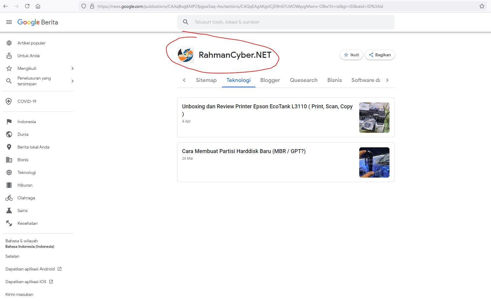 RahmanCyber Google News