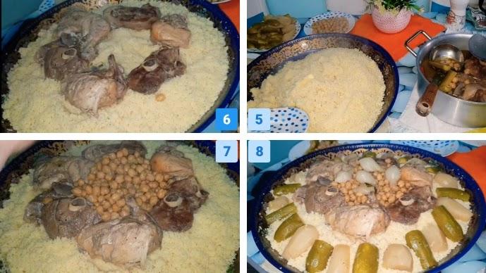 dressing Algerian couscous