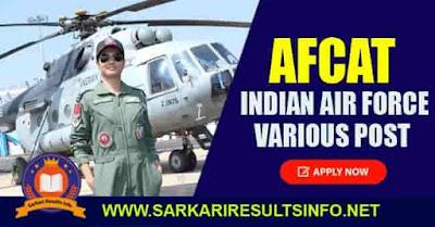Indian Air Force AFCAT Apply Online 2020