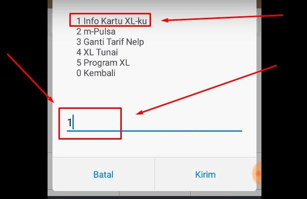 Cek Pulsa XL Melalui Dial Call atau UMB iii