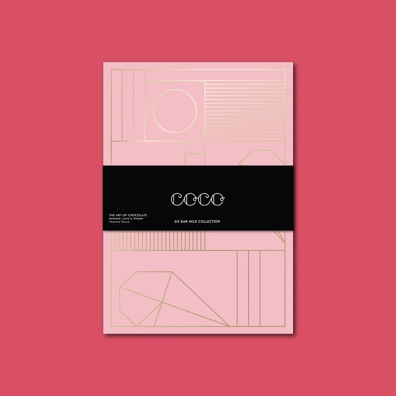 Coco Chocolatier Six Bar Milk Chocolate Collection Retail Price: £30