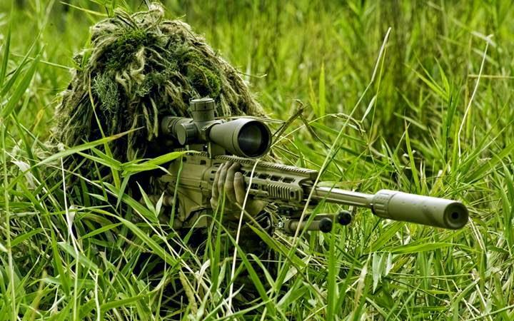 atirador de elite camuflado com as-50 papel de parede