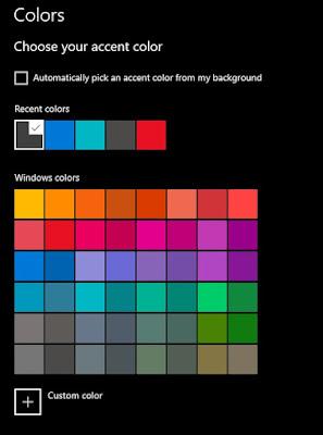 Agar lebih menarik, Sobat juga bisa mengatur warna accent dengan geser kebawah lalu pilih warna yang Sobat inginkan.
