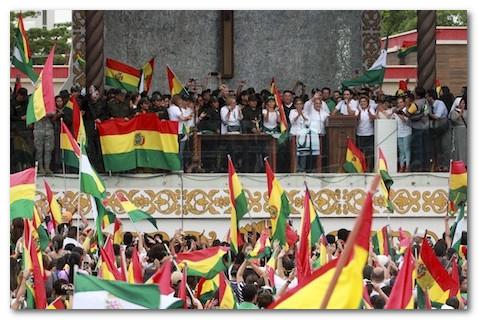 تارودانت بريس :الاحتجاجات الشعبية تجبر الرئيس البوليفي على التنحي عن الحكم