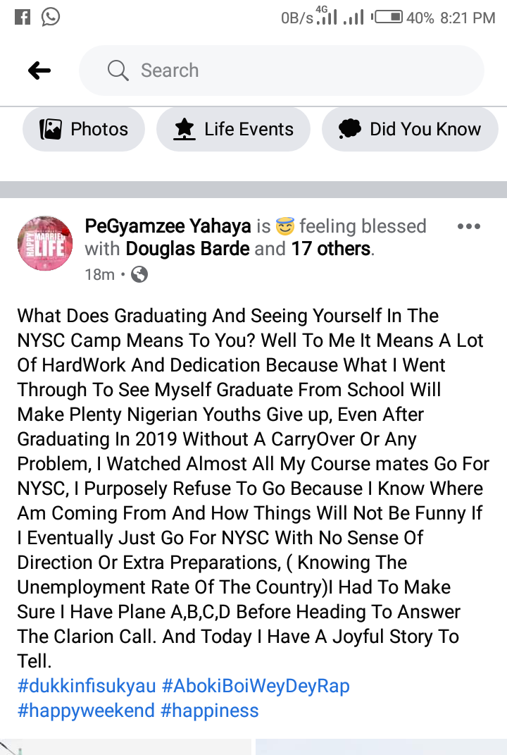 What I went through to graduate from school will make plenty Nigerian Youths give up on education: - Hausa rapper PeGyamzee