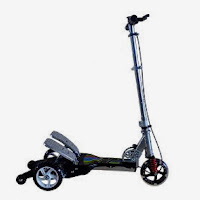 rmb happy alloy dual pedal scooter