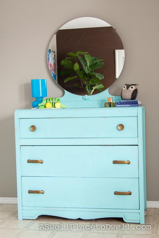 Refinished Aqua Dresser