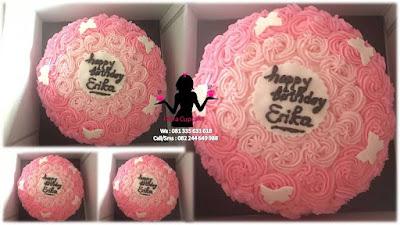 Kue Tart Butter Cream Simpel Harga Murah Warna Pink