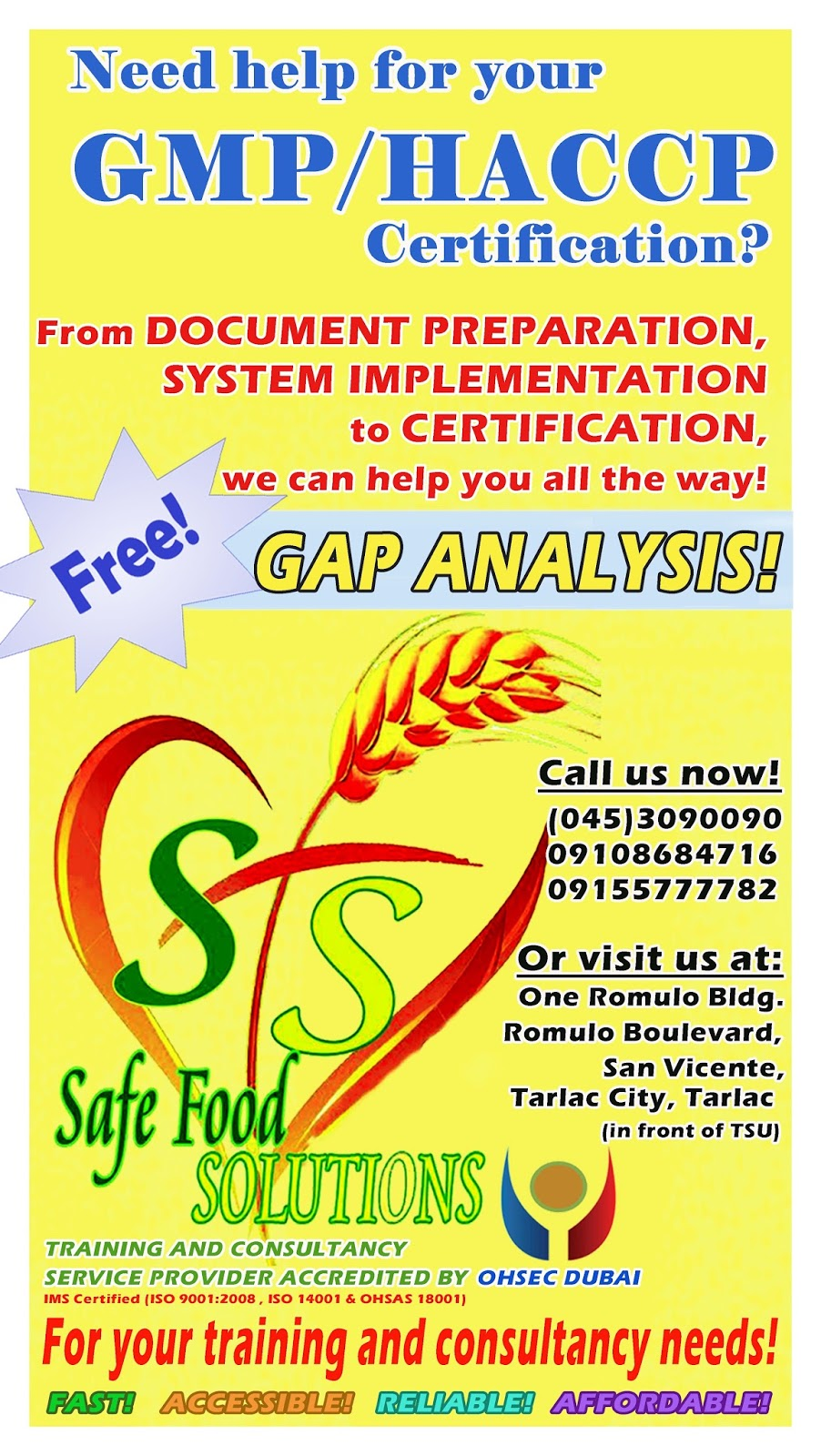 Safe Food Solutions: Good Manufacturing Practice (GMP)