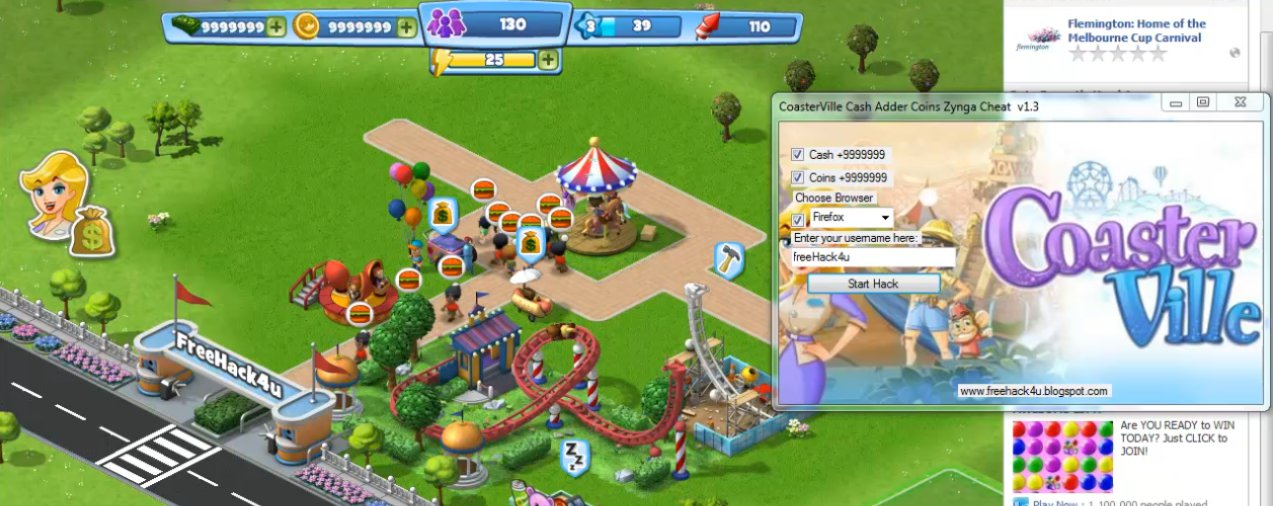 Coasterville Cash Adder Coins Zynga Cheat V1 3