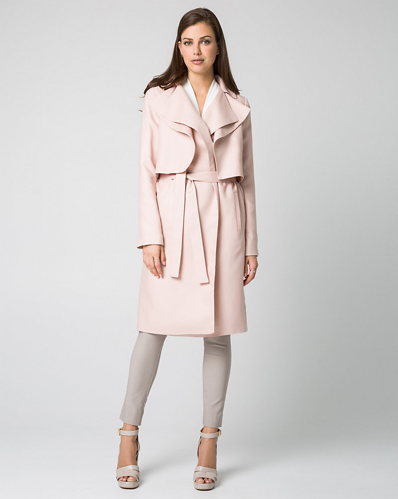 Le chateau blush trench coat