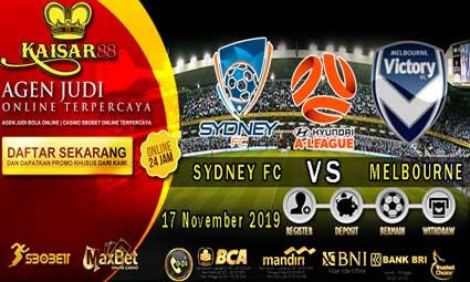 PREDIKSI BOLA TERPERCAYA SYDNEY FC VS MELBOURNE VICTORY 17 NOVEMBER 2019