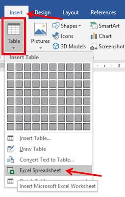 trik membuat tabel di microsoft word